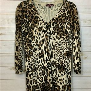 Sweaters - Almost Famous leopard print sweater